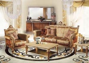 Cambridge Uno/B, Divano per soggiorno classico di lusso