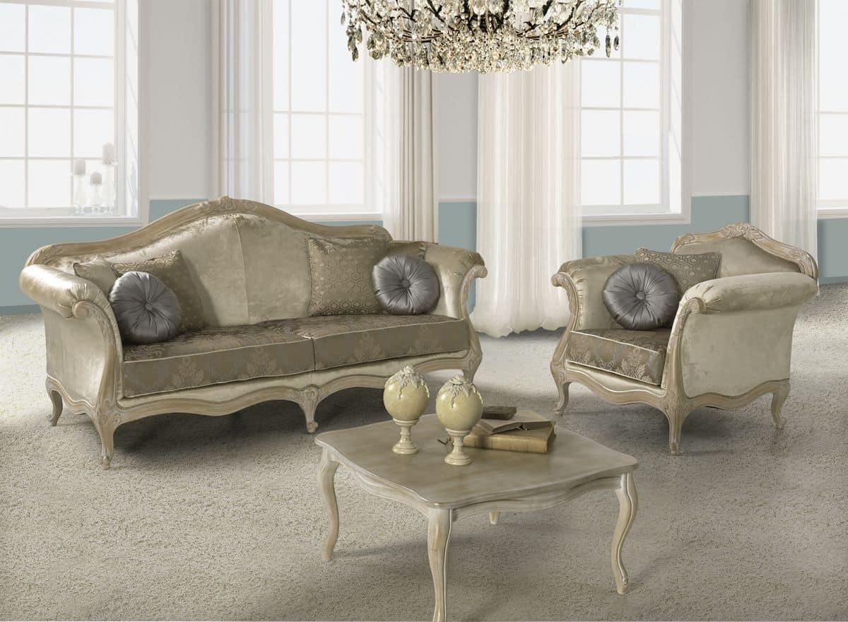 Salotto in stile barocco lavorato a mano disponibile in - Divani in stile barocco ...