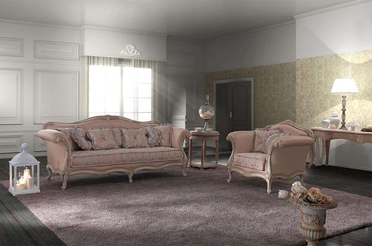 Salotto in stile barocco, lavorato a mano, disponibile in ...