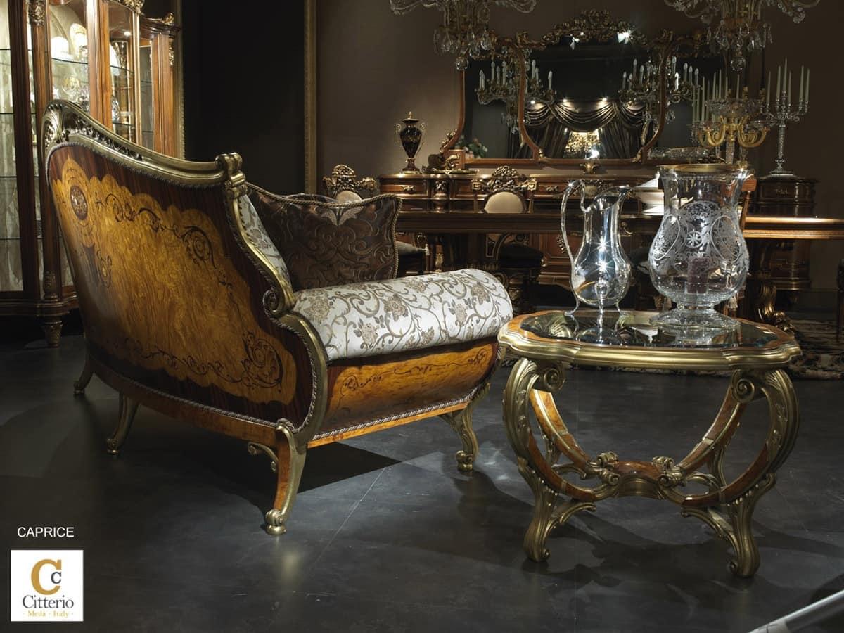 salotto classico di lusso divano intarsiato idfdesign