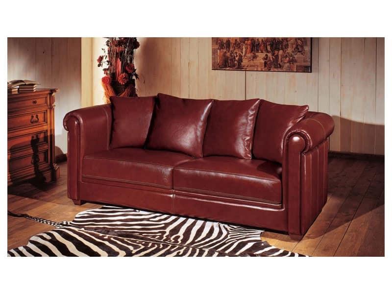 Divano in cuoi con imbottitura in piuma e poliuretano - Imbottitura divani poliuretano ...
