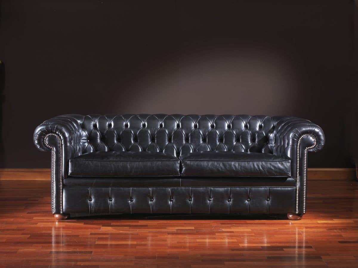 Divano intramontabile in pelle per uffici o ambienti residenziali idfdesign - Tintura per pelle divano ...