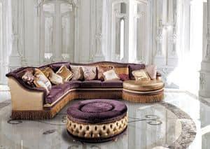 Dec� Tre Sittingroom, Divano componibile classico di lusso, per salotti classici di lusso