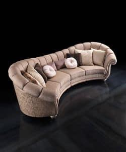 Diamond, Lussuoso divano in stile classico per salotti