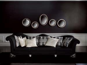 Immagine di Divano Doge Nero, divano classico di lusso