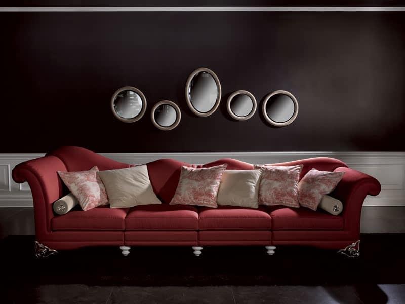 Divano con schienale sinuoso per reception e salotto for Divano rosso abbinamenti