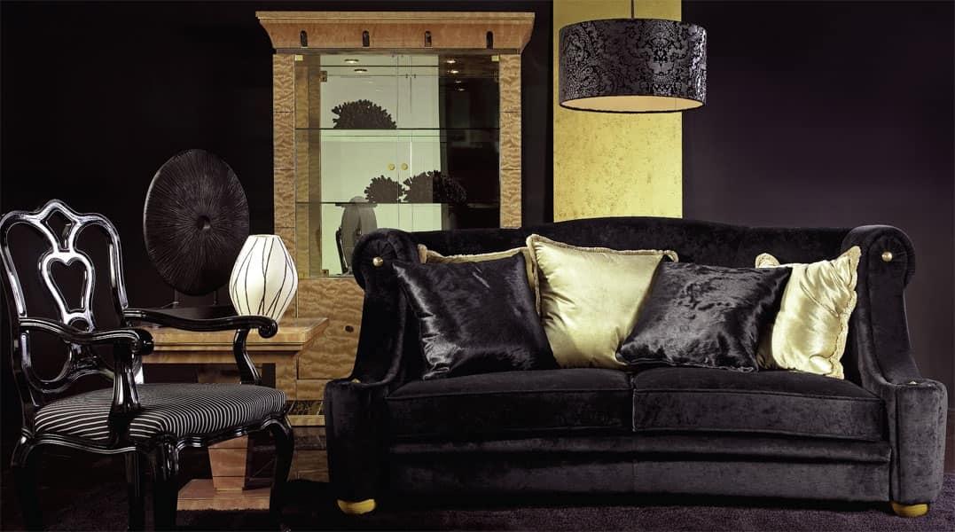Divano in stile per salotti di lusso idfdesign for Salotti di lusso