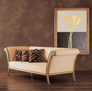 DV850, Divano imbottito in legno, stile classico contemporaneo
