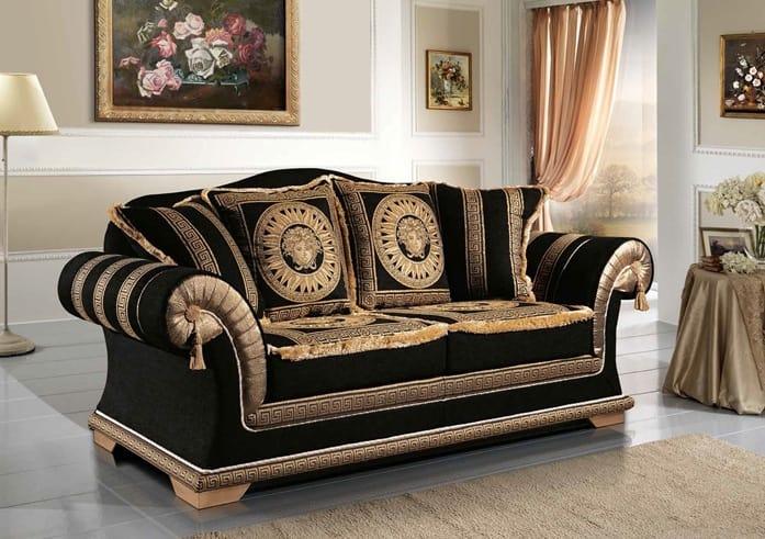 Divano classico rivestito in elegante tessuto idfdesign for Divani di lusso marche