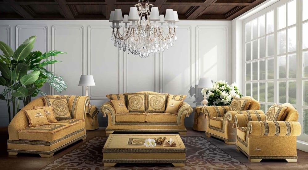 Letto elegante rivestito tessuto liberty divano classico rivestito in elegante tessuto - Divano letto elegante ...