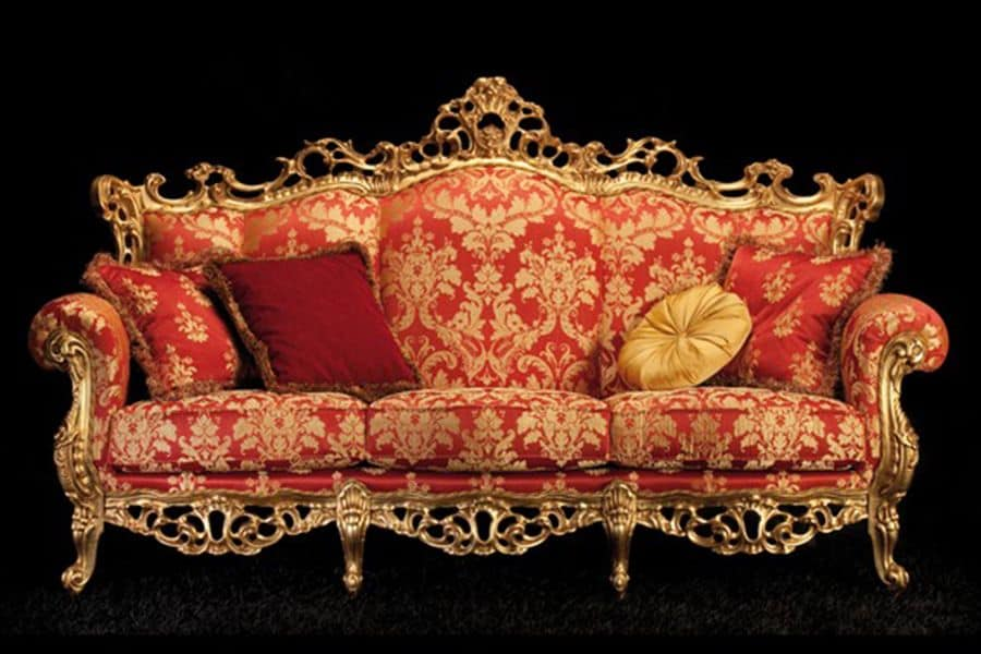 Finlandia sofa divano 3 posti classico di lusso idfdesign - Divano classico lusso ...