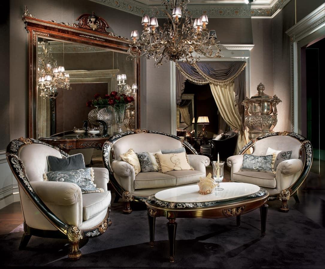 arredo salotto classico di lusso salotto elegante idfdesign