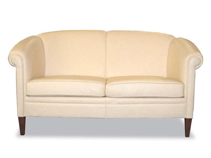 Divano in stile in pelle per salotti idfdesign - Cambiare rivestimento divano poltrone e sofa ...