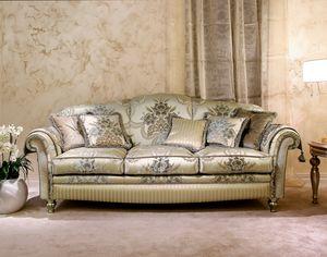 Ibisco, Divano classico in velluto decorato