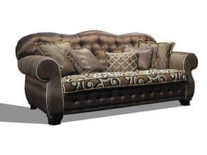 Joy, Classico divano, con schienale capitonn�