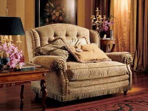 Katerina divano, Divanetto a due posti, stile classico di lusso