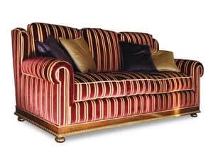 Laurel, Divano con tessuto rosso, stile classico