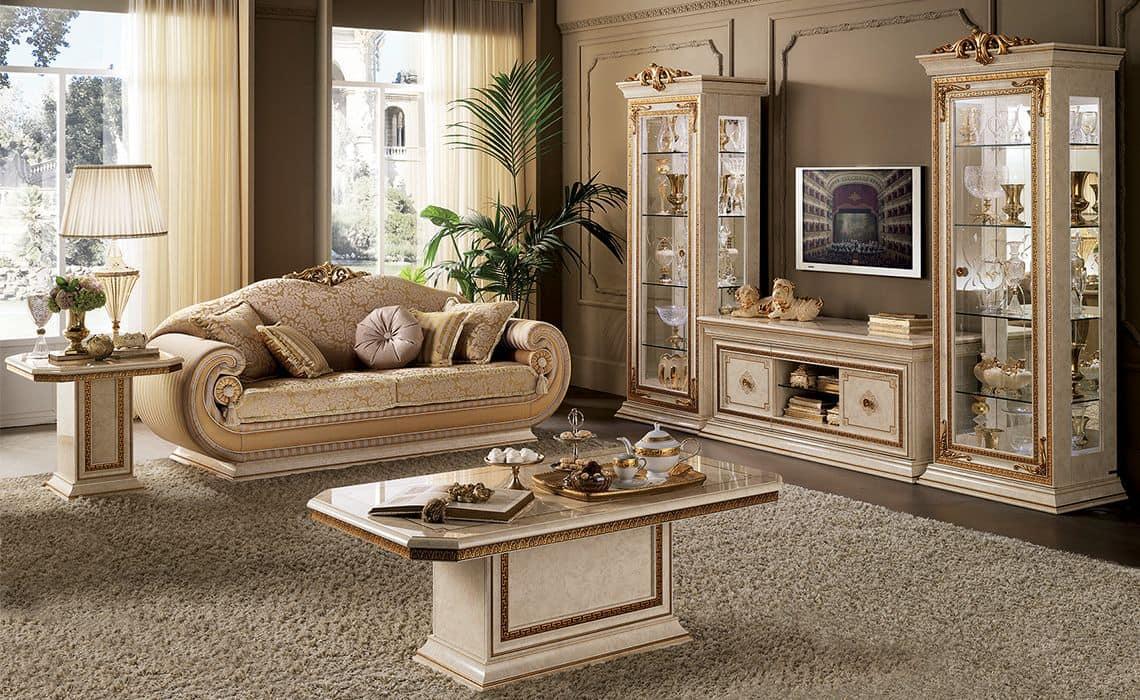 Salotto in stile classico contemporaneo per ville idfdesign for Mobili salotto