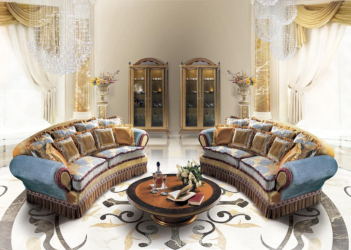 divano artigianale stile classico idfdesign On divani classici di lusso stile