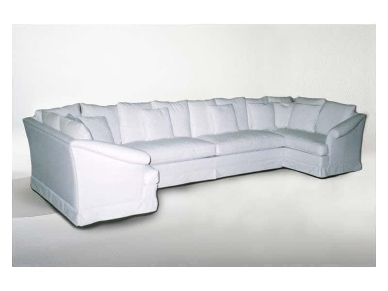 Divano classico ad angolo idee per il design della casa - Copridivano per divano ad angolo ...