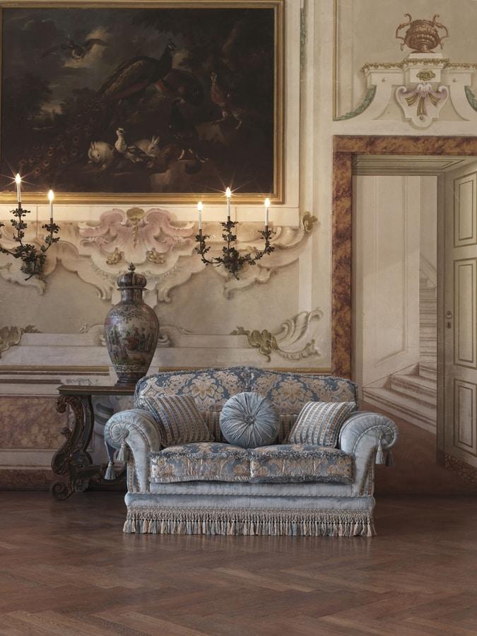 Olga, Divano a 3 posti in stile classico di lusso