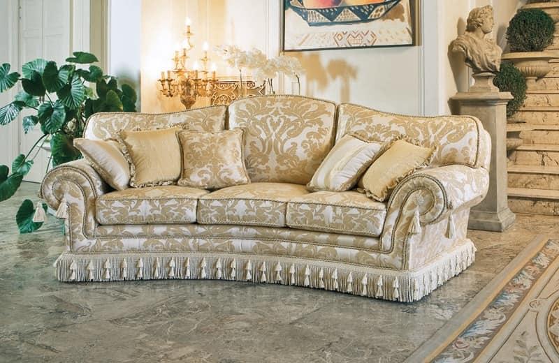 Paloma ring, Divano semicircolare in stile classico di lusso