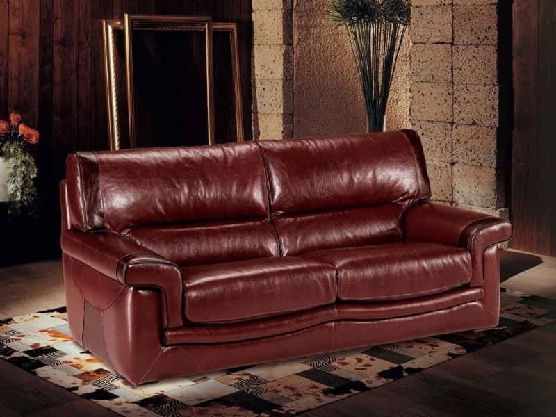 Divano in cuoio, divano-letto disponibile | IDFdesign