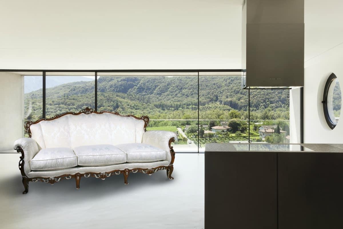 Praga Sofa, Divano 3 posti in stile classico