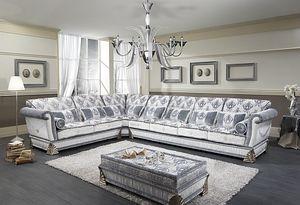 RIALTO angolare, Divano angolare personalizzabile, stile classico di lusso