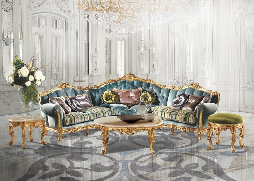 arredo salotto divano classico idfdesign On divani classici on line