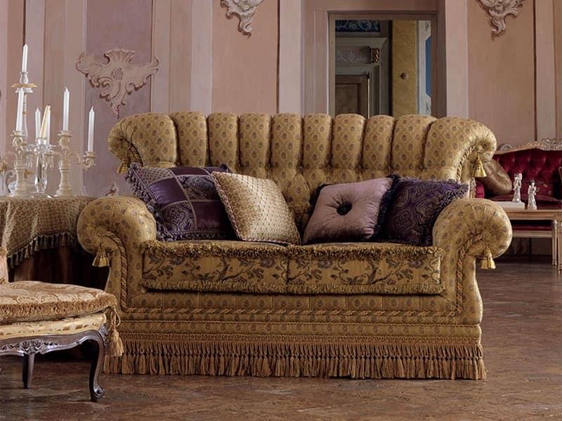 Divano 2 posti in stile classico capitonn per salotto for Divani di lusso prezzi