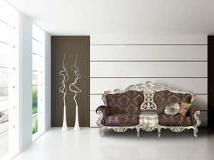 Secret tessuto classico divano, Divano curvo 2 posti ideale per ambienti di lusso