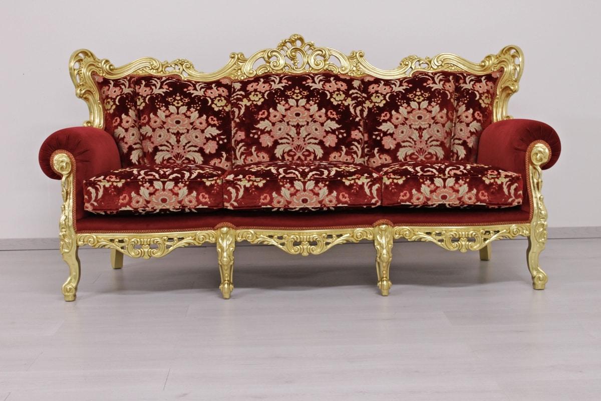 Divano Maria Rosa : Lussuoso divano intagliato a mano idfdesign