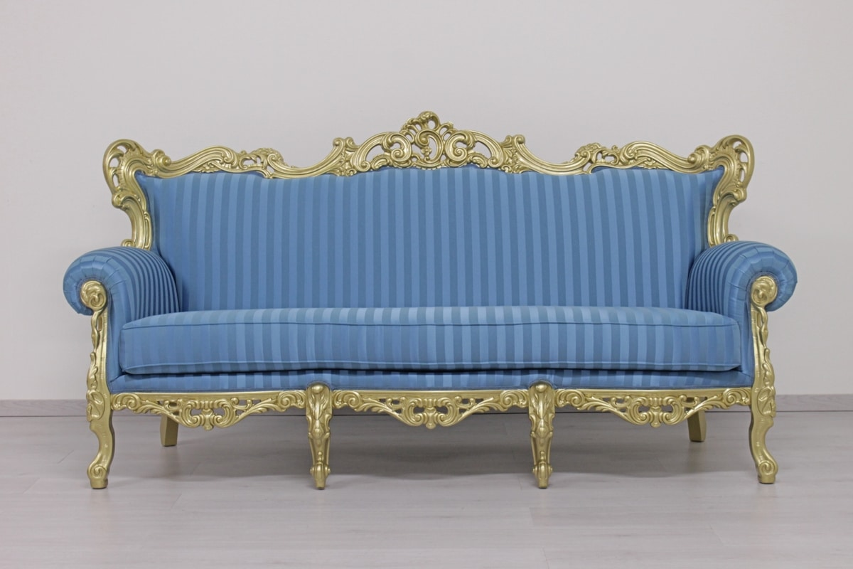 Stradivari 3 posti, Lussuoso divano intagliato a mano