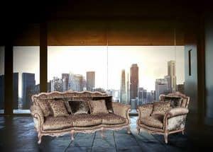 Symphony Sofa, Divano 3 posti per villa in stile classico