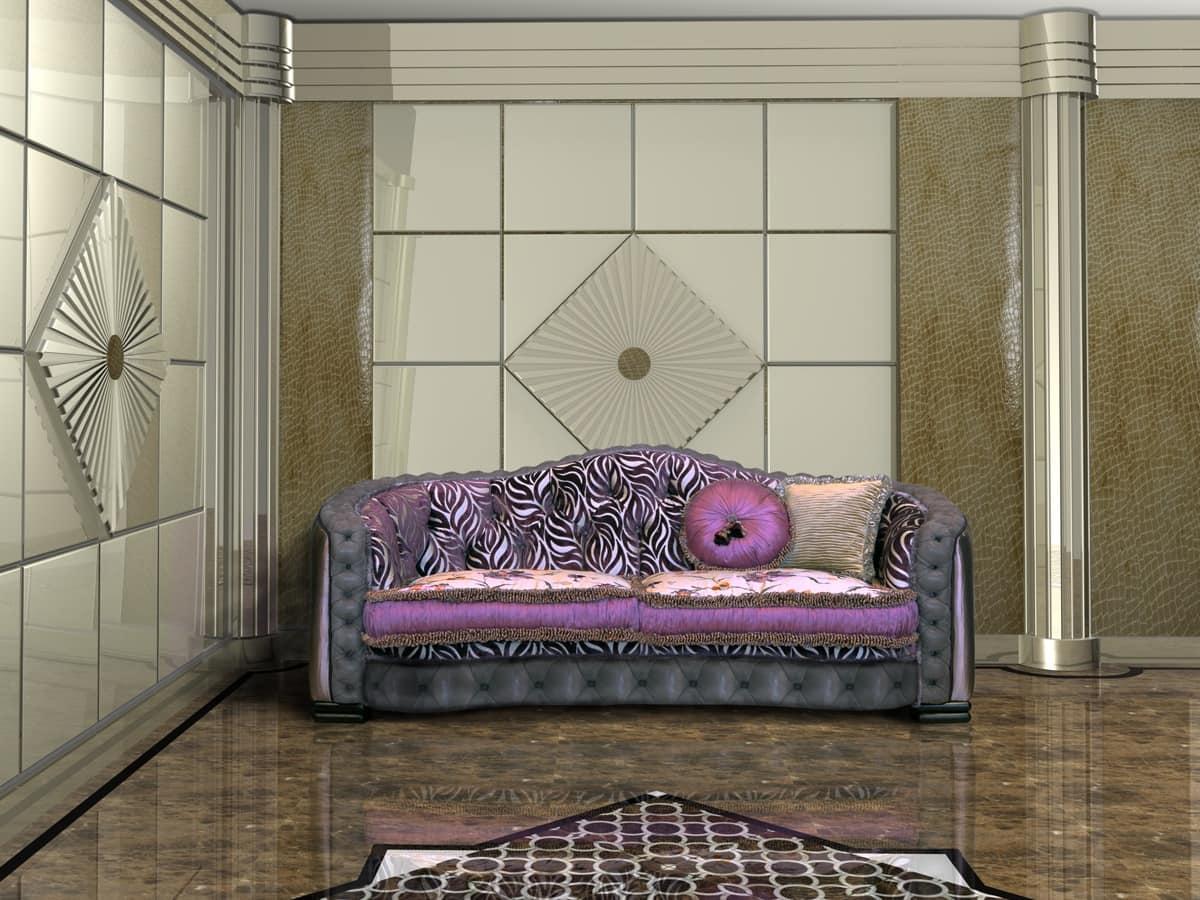 Divano lussuoso con schienale capitonn idfdesign - Schienale divano ...