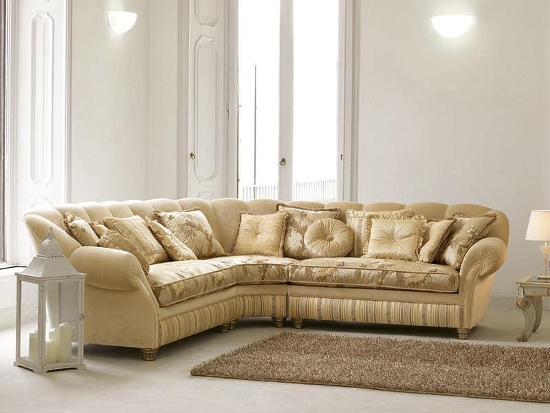 divano angolare classico di lusso forma sinuosa idfdesign