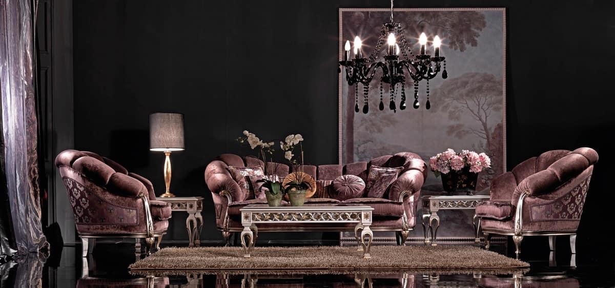 Divano classico di lusso intagliato a mano per uffici for Divani di lusso prezzi