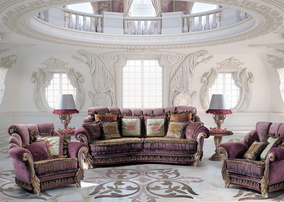 divano 3 posti per la casa classico di lusso idfdesign. Black Bedroom Furniture Sets. Home Design Ideas