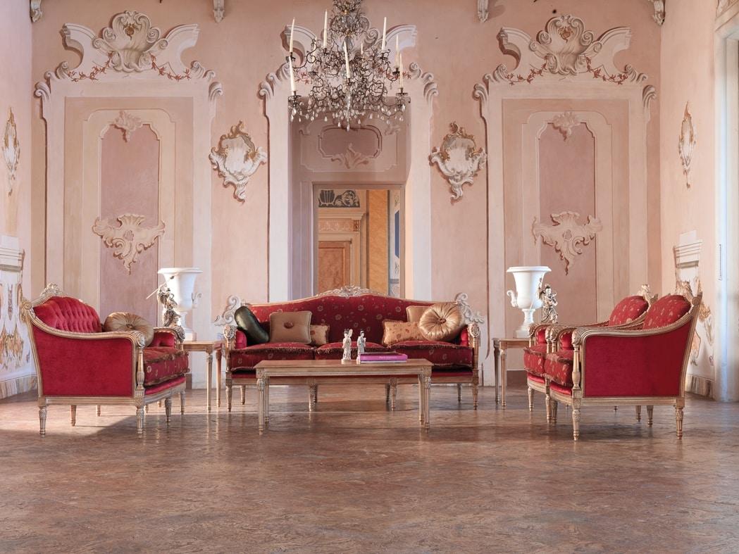 Divano classico struttura in legno per salotti di lusso for Divani di lusso prezzi