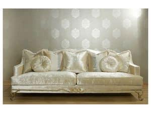 ARGO divano 8544L, Divano imbottito, struttura in faggio e pioppo, uso residenziale