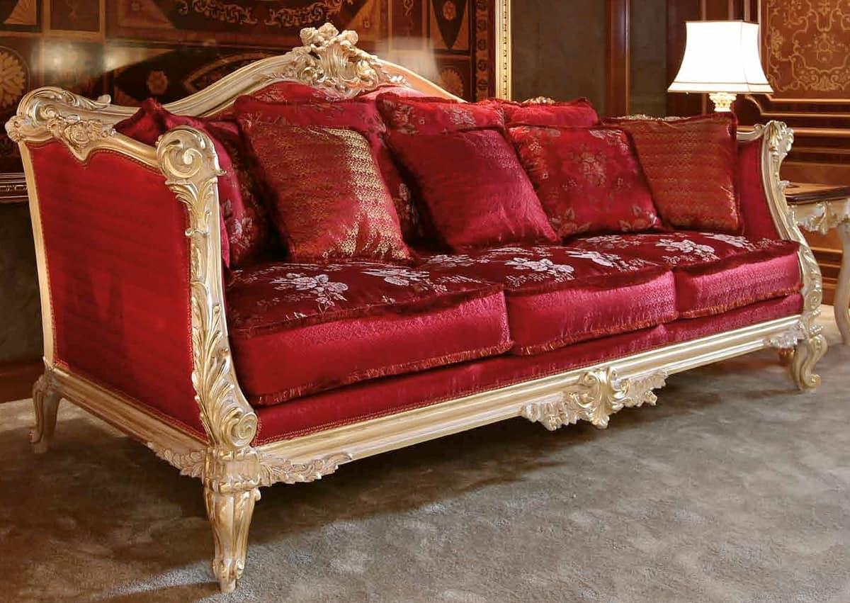 Art. 705, Elegante e lussuoso divani intagliato a mano