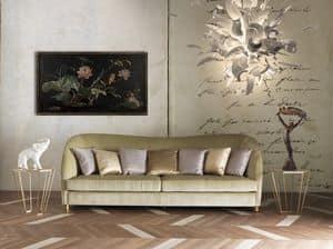 Art. CA913, Elegante divano con rivestimento in velluto