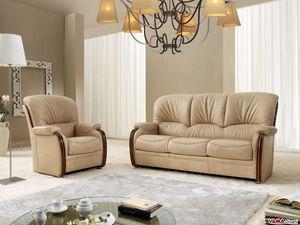 Bellepoque divano, Divano classico con eleganti dettagli in legno