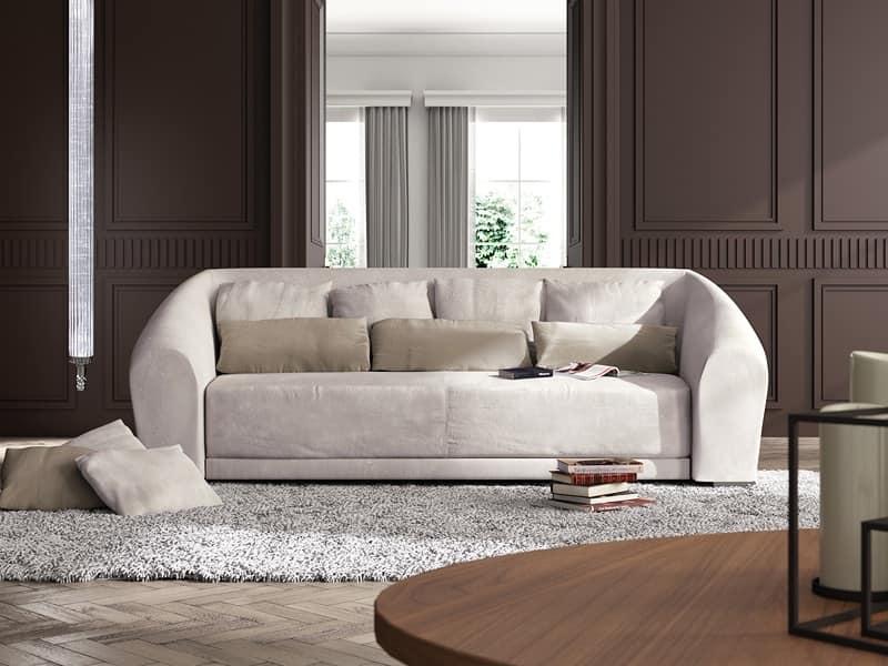 divano classico contemporaneo forma curvata idfdesign