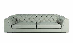 Botero divano, Divano classico, con schienale capitonnè