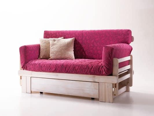 Divano letto rustico divano in legno con contenitore divano stile provenzale botticelli - Smontare divano poltrone sofa ...