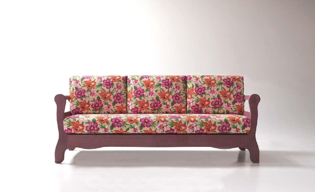 Canaletto divano 2 posti rustico per salotto divano 3 posti rustico per locali idfdesign - Divano rustico 3 posti ...