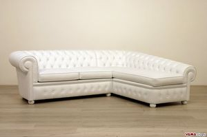 Chesterfield con chaise longue, Divano chester con dormeuse