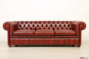 Chesterfield divano, Divano Chesterfield in pelle